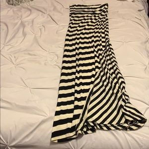 B&W striped maxi skirt from Body Central